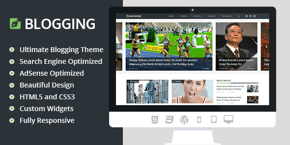 Blogging WordPress Theme MyThemeShop