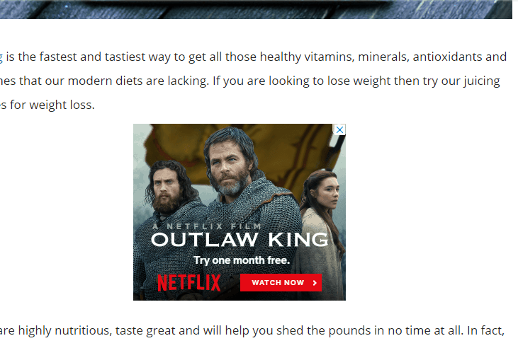 Ads within Content