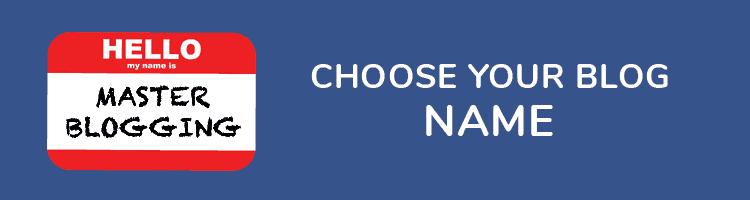 Choose Blog Name