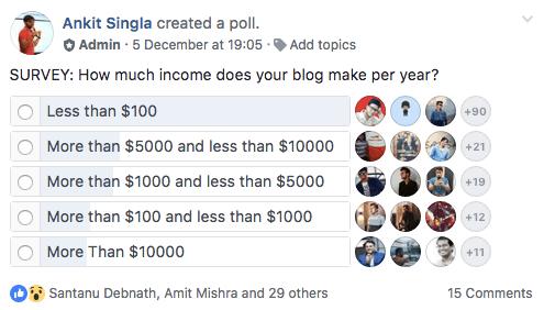 Make money blogging stats