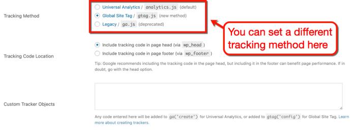 GA Google Analytics Tracking Method
