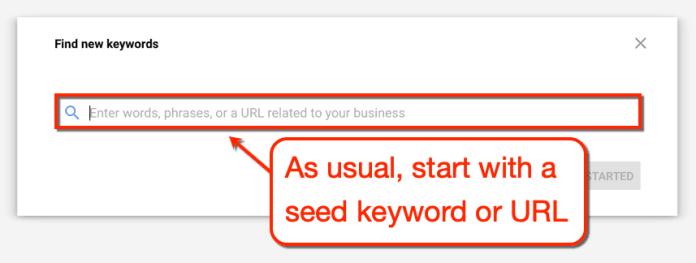 Keyword Planner Find Keyword Suggestions