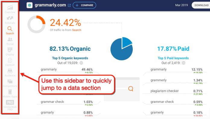 SimilarWeb Sidebar