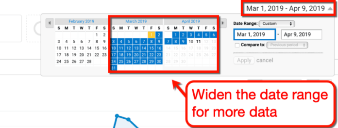Widen the Date Range