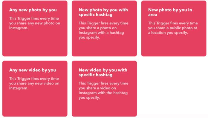 IFTTT Triggers for Instagram