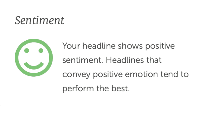 Positive Sentiment Headline