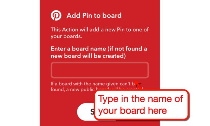 Add Pin to Board Configuration
