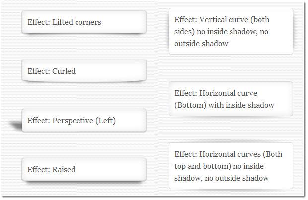 drop shadow effects