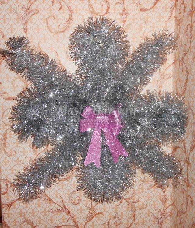 Рождестволық ағаштан жасалған снежинкалар оны өзіңіз жасаңыз