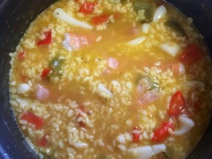 arroz caldoso cigalas sumergidas