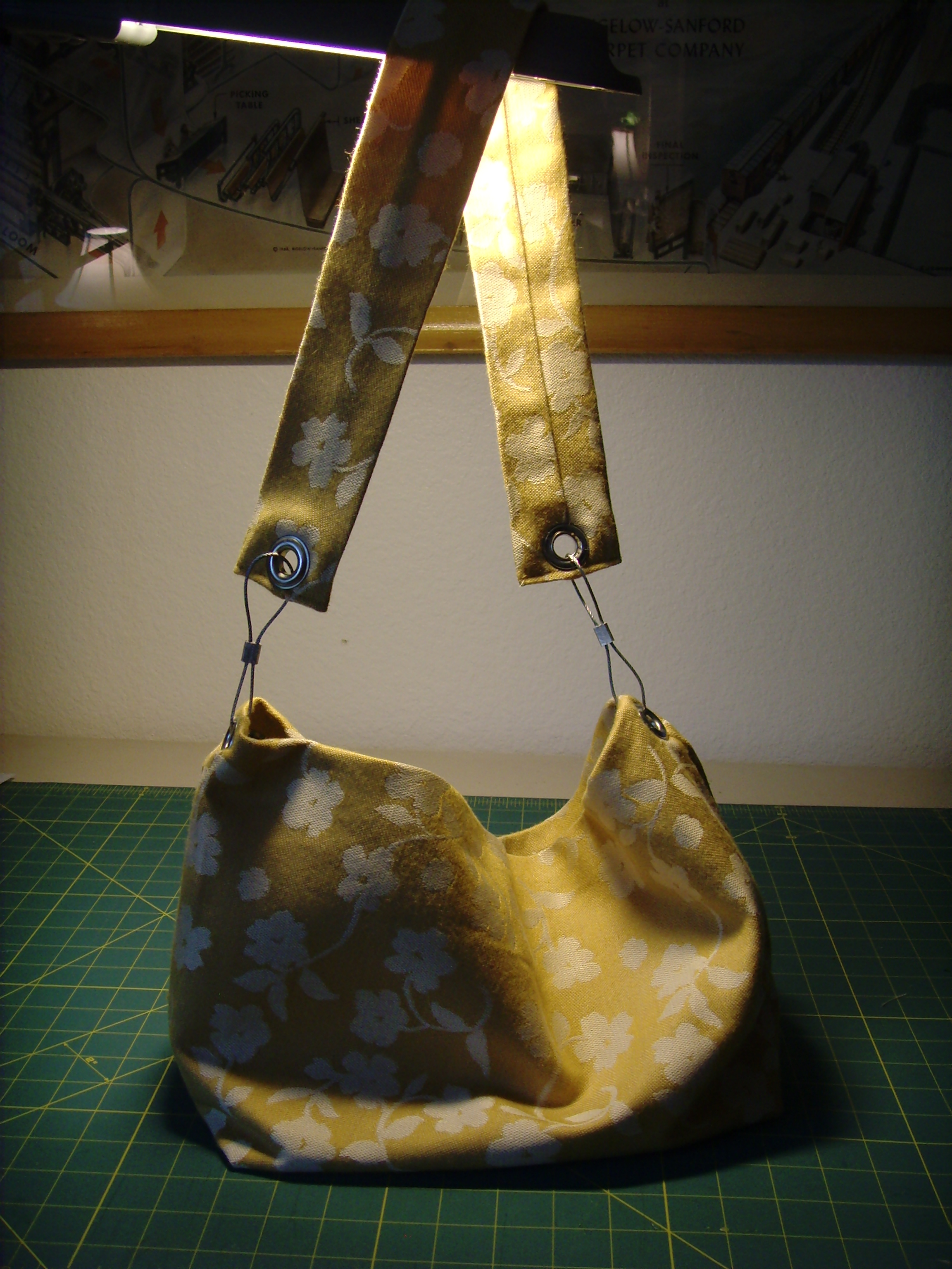 Yellow Purse with Grommets (7)