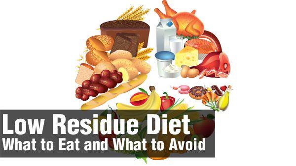Popular Low Residue Diet Foods
