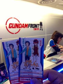 Ticket counter for the Gundam Front is at the 6F