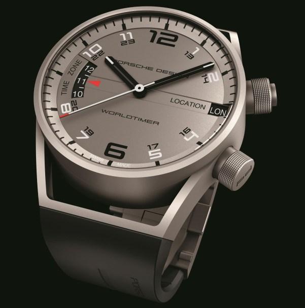 Porsche Design Worldtimer P'6750 watch in matte titanium
