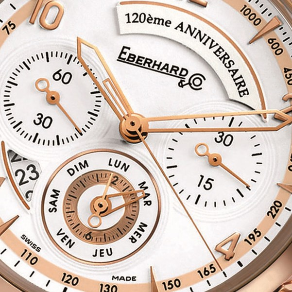 Eberhard & Co. Chronographe 120ème Anniversaire in Pink Gold