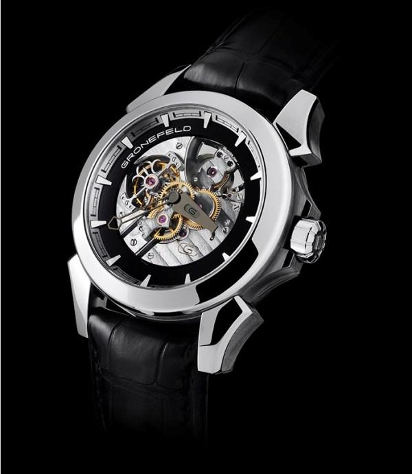 Grönefeld GTM-06 Tourbillon Minute Repeater watch in platinum