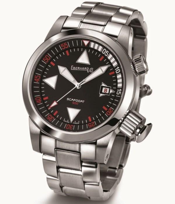 Eberhard Co. Scafodat automatic diving watch 500 meters water resistance