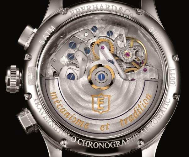 Eberhard Co. CHRONO TRAVERSETOLO caseback view