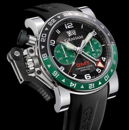Graham Chronofighter Oversize GMT Big Date BRG (British Racing Green)