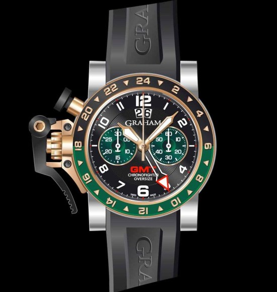 Graham Chronofighter Oversize Steel & Gold GMT Big date, Reference 2OVGG.B16A.K10S