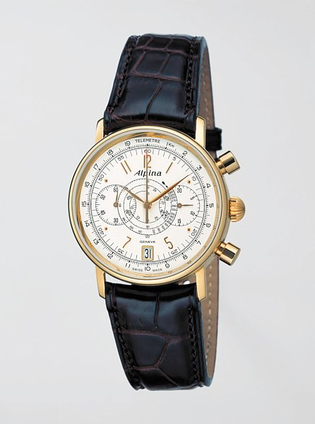 Alpina Heritage Gold Chronograph - Inspired from the Historical Alpina Gold Chronograph of 1930's