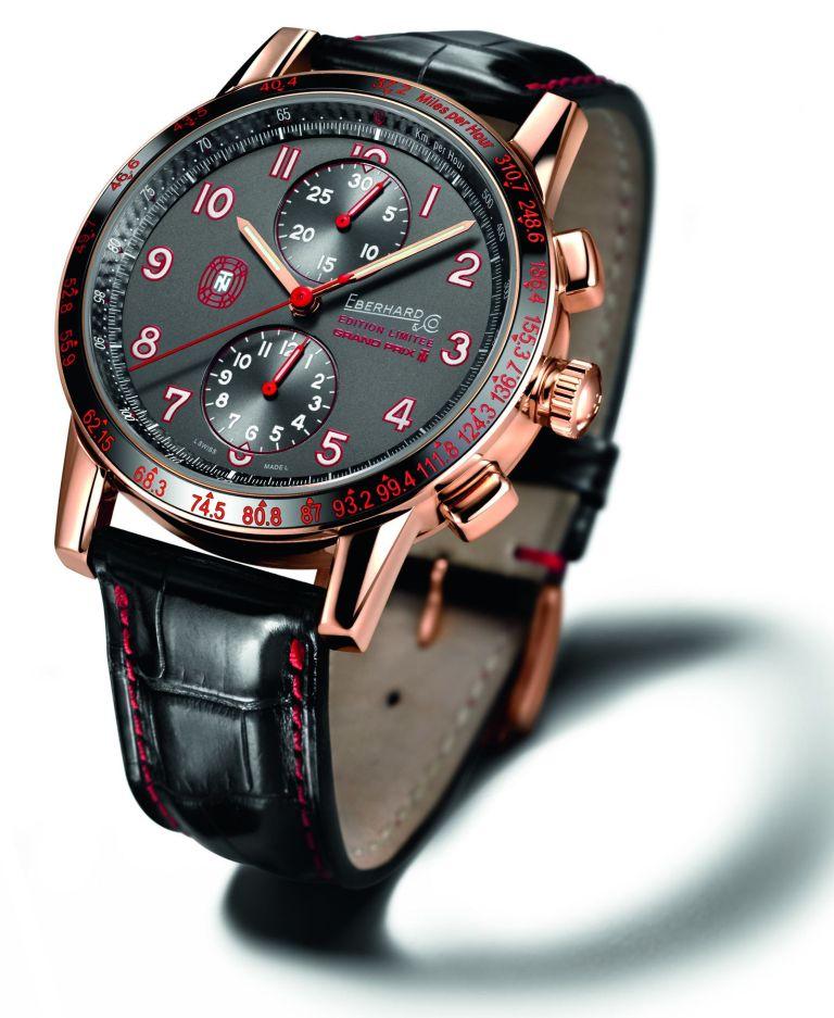 """Eberhard & Co. New """"Tazio Nuvolari Edition Limitée Grand Prix TN"""" Red Gold Exclusive Edition"""