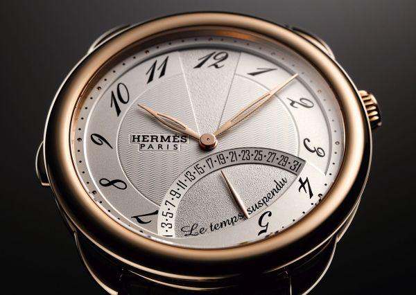 Hermès Arceau Le Temps Suspendu watch rose gold version