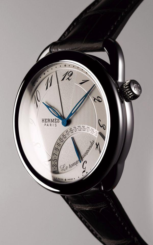 Hermès Arceau Le Temps Suspendu watch stainless steel version