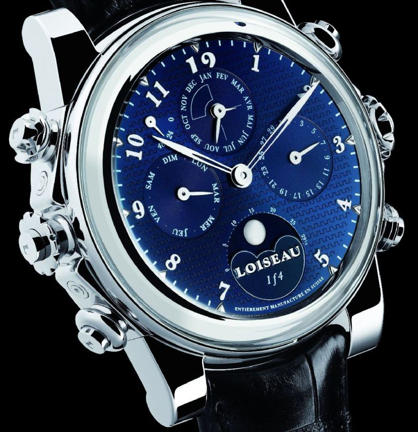 Loiseau 1f4 Grande Sonnerie Complication : World's First Dual Automatic Grande Sonnerie Complication Timepiece with Instant Dial Reversibility