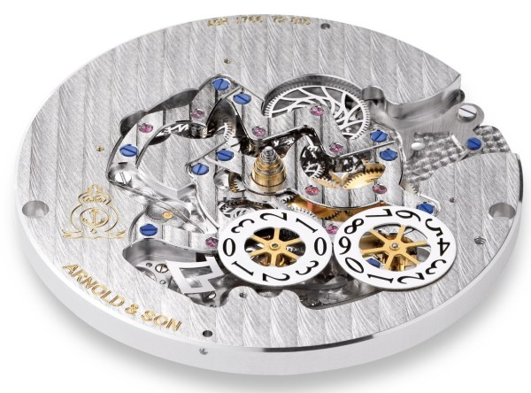 Arnold and Son Hornet World Timer Skeleton watch movement Calibre A1766