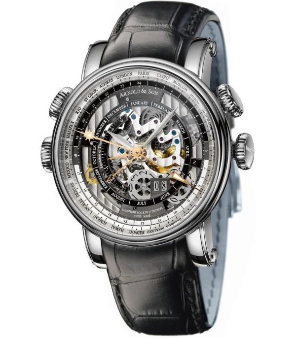 Arnold and Son Hornet World Timer Skeleton watch stainless steel model