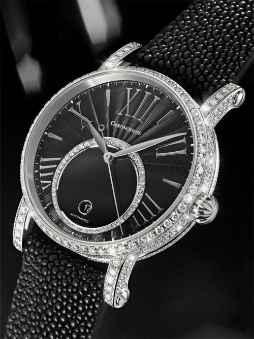 CHRONOSWISS Lady Soul watch with diamond set case