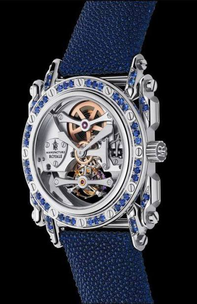Manufacture Royale Androgyne blue sapphires