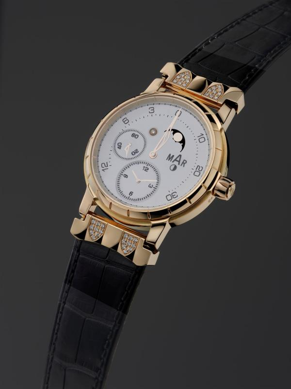 Montres MAR Bacchus Collection Edition 2011, Jewellery line. Complications with constant straight escapement (ASXP escapement)