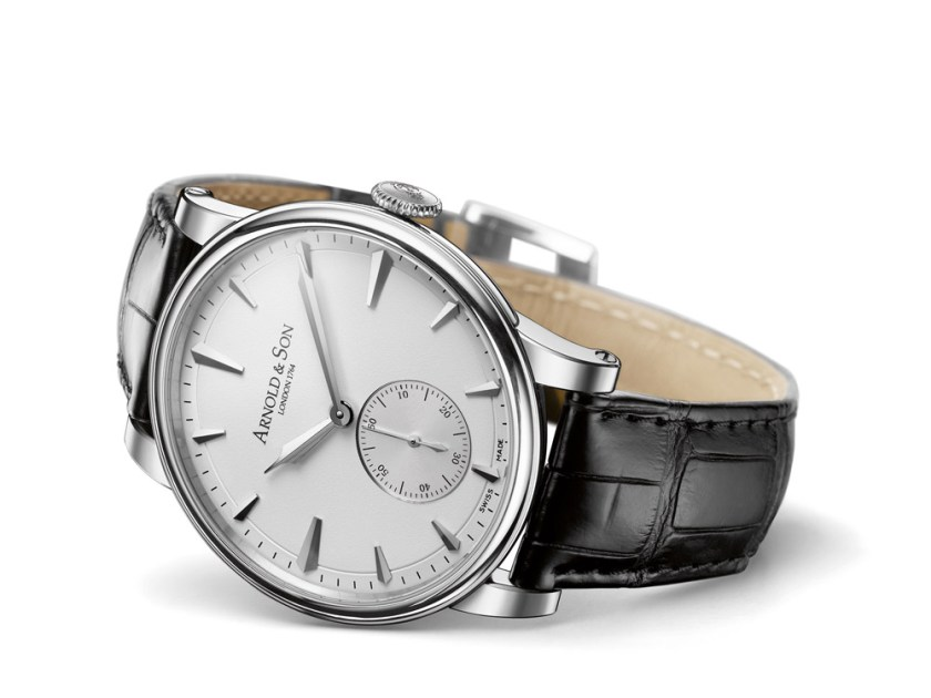 Arnold and Son HMS1 in stainless steel case with white dial