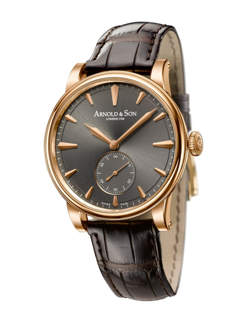 Arnold and Son HMS1 watch in rose gold case with anthracite dial