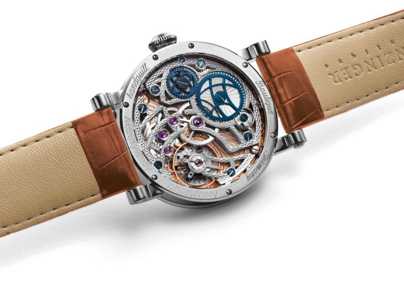GRIEB & BENZINGER Custom Designed POLARIS Watch Model in White Gold and Honey Brown Combination