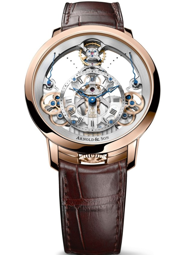 Arnold and Son Time Pyramid red gold watch