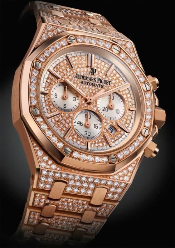 Audemars Piguet Royal Oak Chronograph Pink Gold 41mm, Set with Diamonds (Ref. 26322OR.ZZ.1222OR.01)