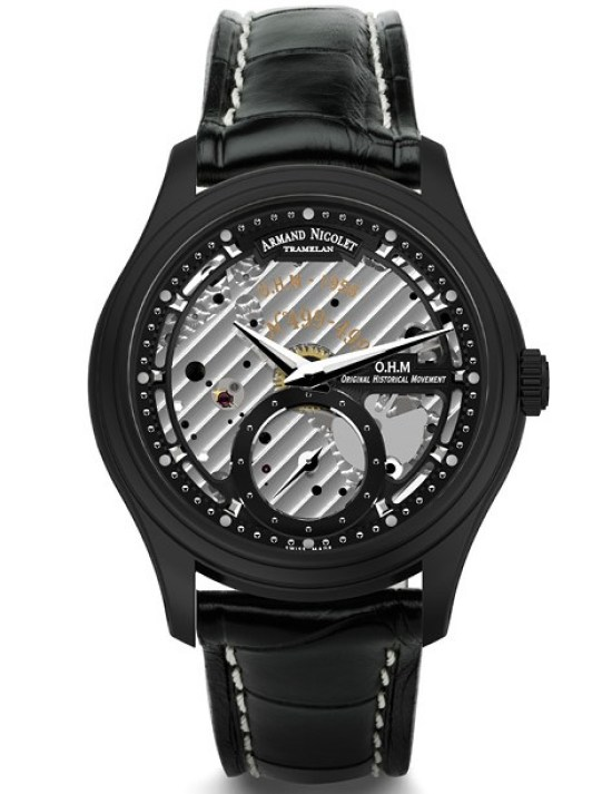 Armand Nicolet L14 Small Seconds Limited Edition watch black DLC case