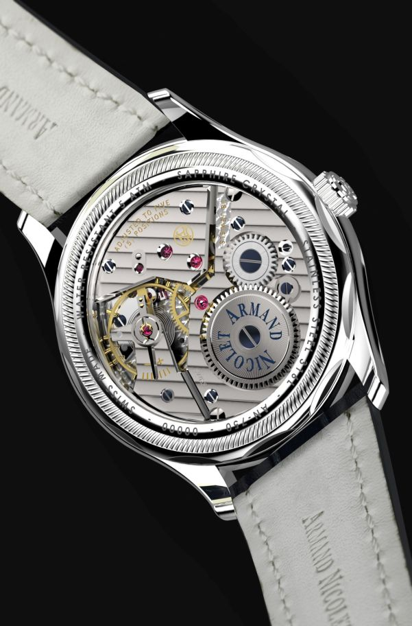 Armand Nicolet L14 Small Seconds Limited Edition watch caseback view
