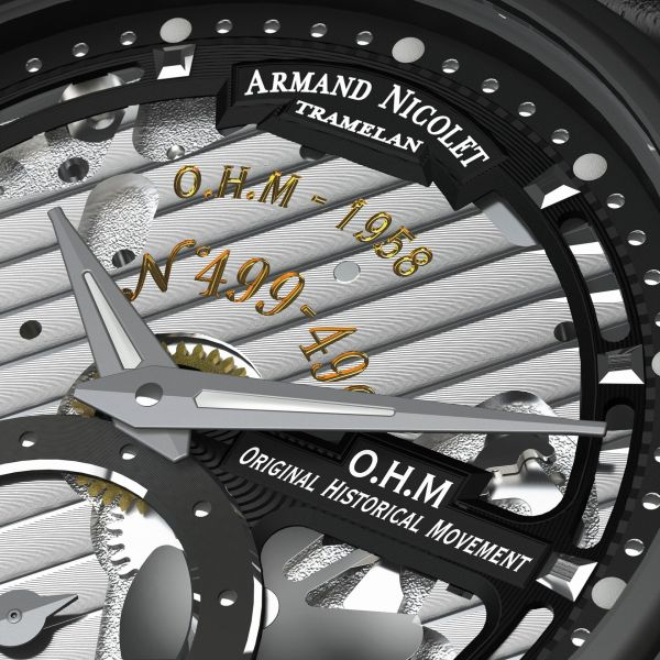 Armand Nicolet L14 Small Seconds Limited Edition watch skeleton dial