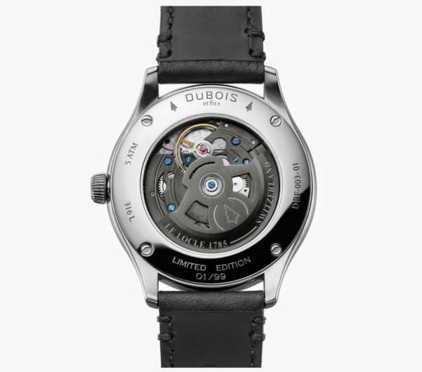 DuBois et fils DBF003 automatic watch case back view