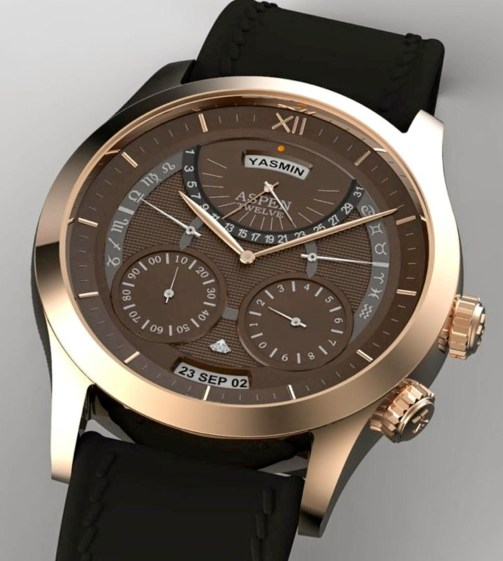 ASPEN JEWELRY AND WATCHES - ASPEN XII Concept, the Personal Calendar Watch