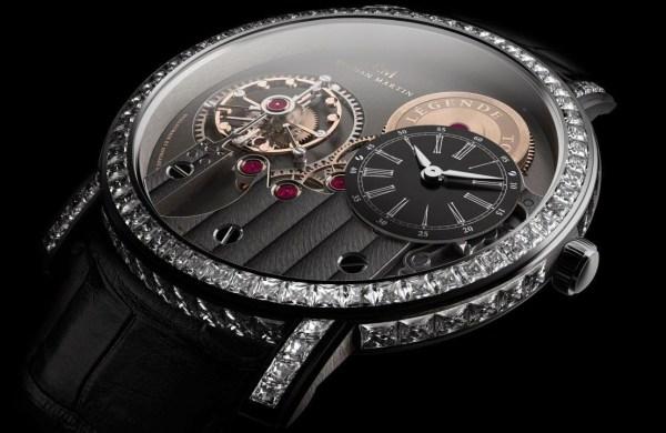 Roshan Martin Légende Tourbillon diamond set watch