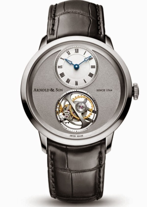 Arnold and Son UTTE Tourbillon New Version with Palladium Case and Light Grey Dial
