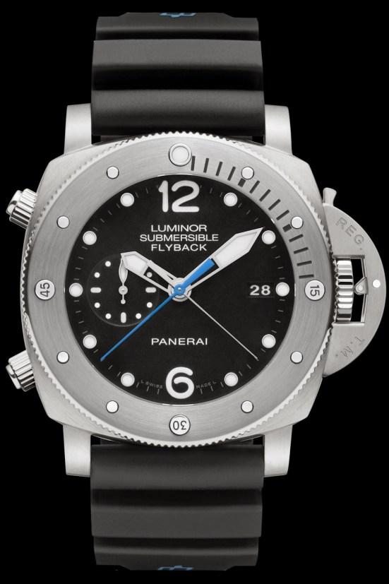 Panerai Luminor Submersible 1950 3 Days Chrono Flyback Automatic Titanio - 47mm with Brushed titanium bezel (PAM00614)