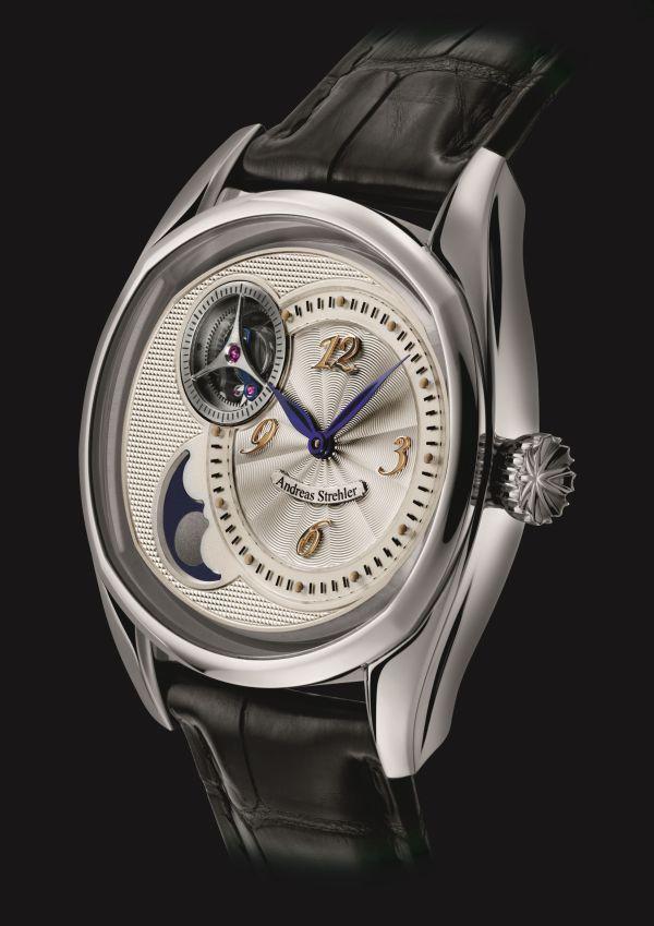 Andreas Strehler Sauterelle à Lune perpétuelle 2M  watch in Platinum