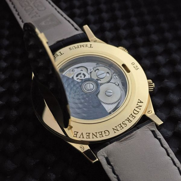 Andersen Genève Tempus Terrae 25th Anniversary Limited Edition caseback view