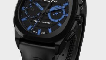 Armand Nicolet J09 Chronograph watch black dlc case